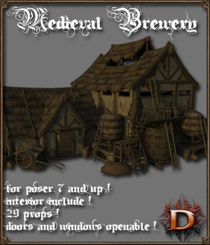 Medieval Brewery - Extended License 3D Models Extended Licenses Dante78