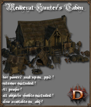 Medieval_Hunter's_Cabin - Extended License 3D Models Extended Licenses Dante78