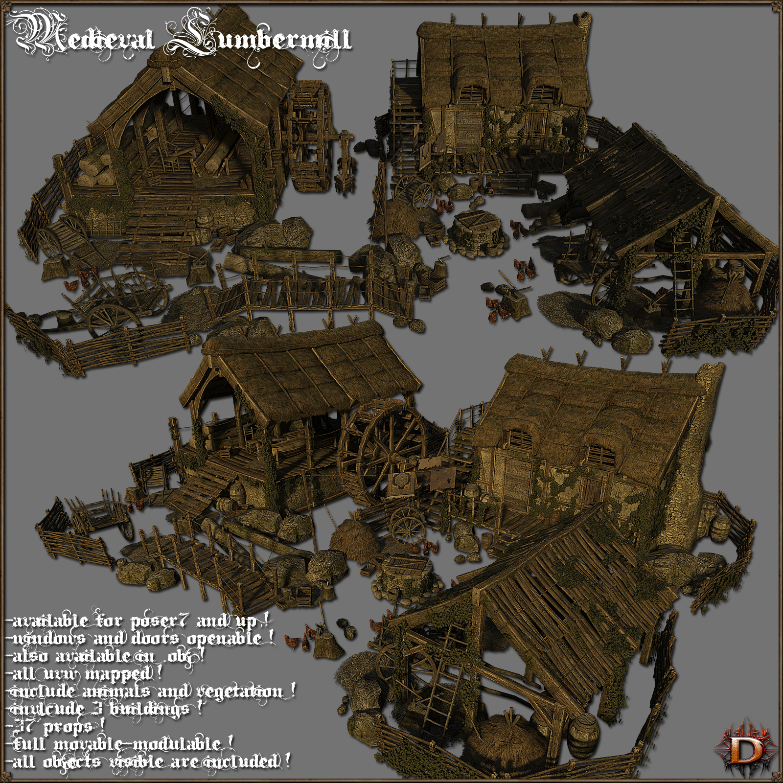 Medieval Lumbermill - Extended License by Dante78