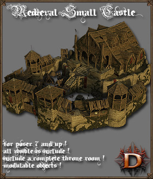 Medieval Small Castle - Extended License 3D Models Extended Licenses Dante78