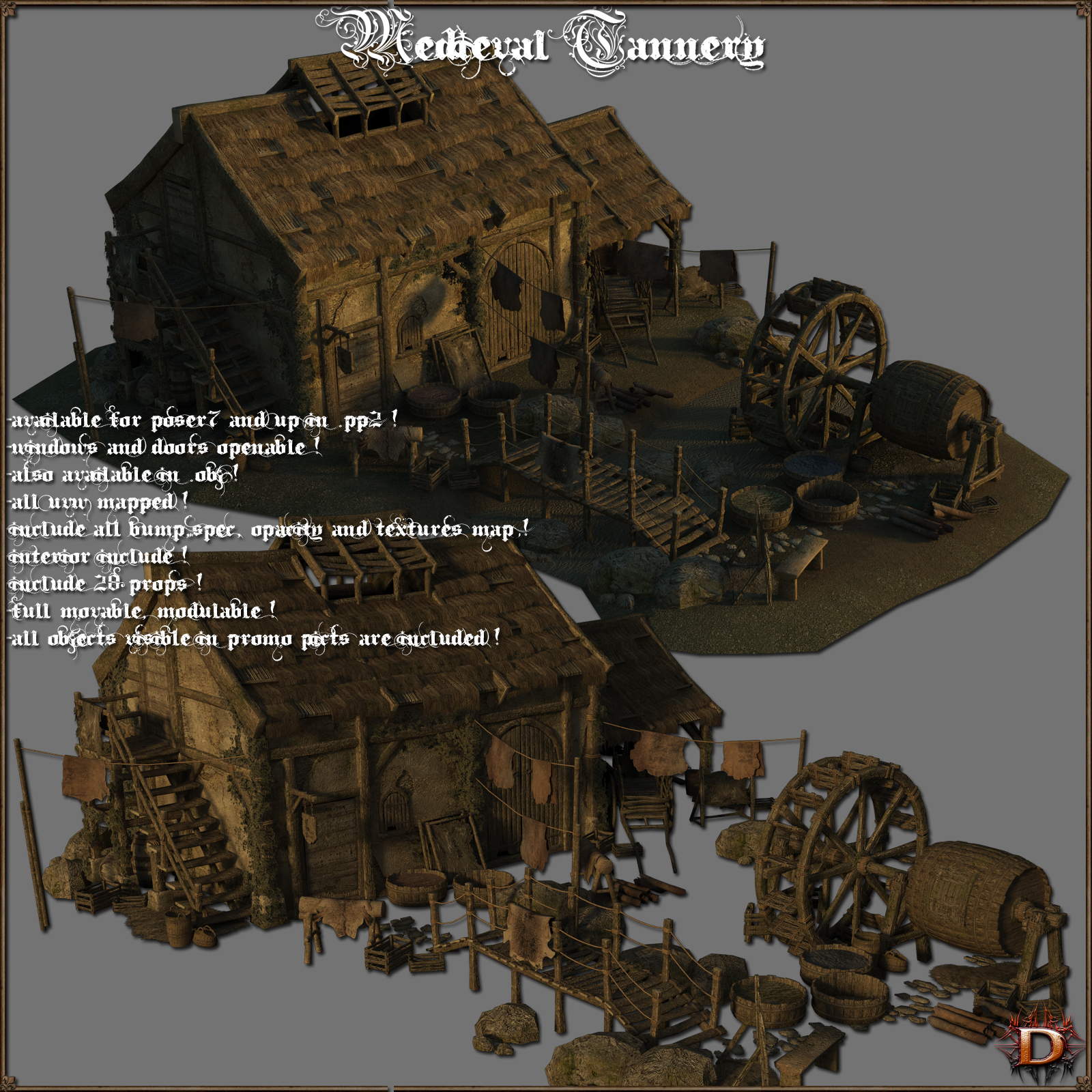 Medieval Tannery - Extended License by Dante78