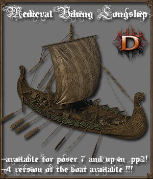 Medieval Viking Longship - Extended License 3D Models Gaming Extended Licenses Dante78