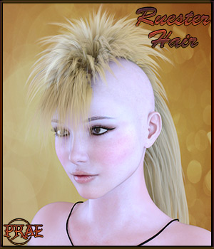 Prae-Ruester Hair For Genesis 3 3D Figure Essentials prae