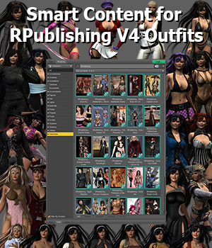JDS Smart Content for RPublising V4 Outfits 3D Software : Poser : Daz Studio : iClone jdstrider