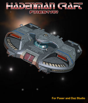 Sci-Fi Craft Hadenman Firestar 3D Models Simon-3D