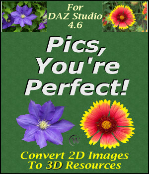 Pics, You're Perfect! for DAZ Studio 4 Tutorials : Learn 3D Winterbrose
