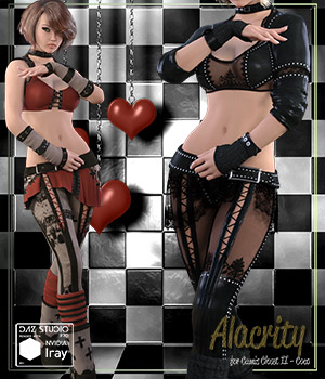 Alacrity for Cami's Closet 2 - Iray, 3Delight and Poser presets