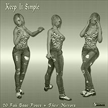 Keep It Simple Poses for G3F/V7 image 1