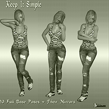 Keep It Simple Poses for G3F/V7 image 2