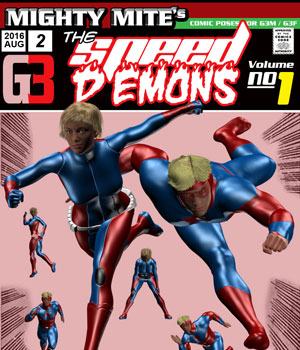 The Speed Demons v01 : By MightyMite for G3M and G3F 3D Figure Essentials MightyMite