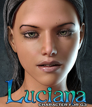 Exnem Luciana Character for G3 Female 3D Figure Assets exnem