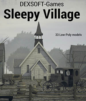 Sleepy Village 3D Game Models : OBJ : FBX Extended Licenses dexsoft-games
