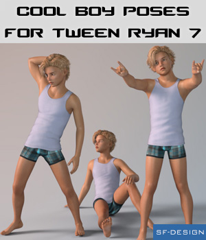 Cool Boy Poses for Tween Ryan 7 3D Figure Assets SF-Design
