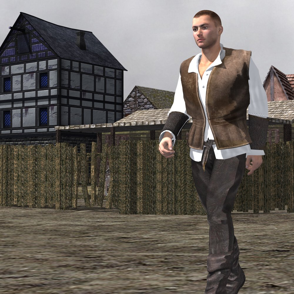 Medieval Townsman (M4) (for Poser) - Extended License