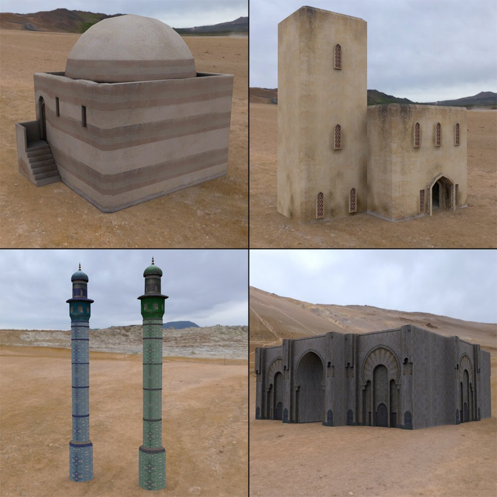 Middle East Buildings 4 (for Poser) - Extended License