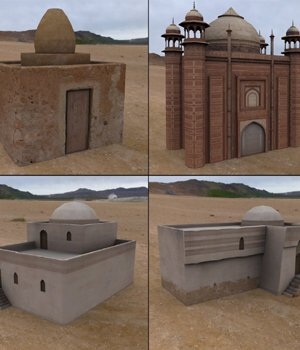 Middle East Buildings 3 (for Poser) - Extended License 3D Models Gaming Extended Licenses VanishingPoint