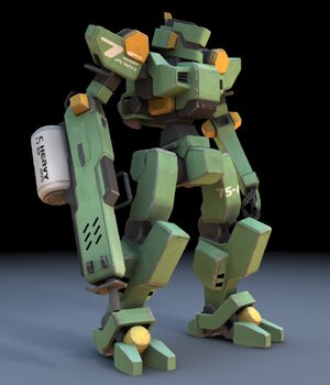 Sentinel Robot Mech (for DAZ Studio) 3D Models VanishingPoint