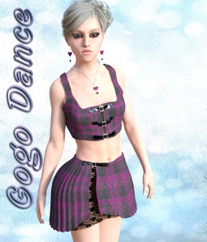 Gogo Dance Outfit for G3F 3D Figure Essentials chasmata