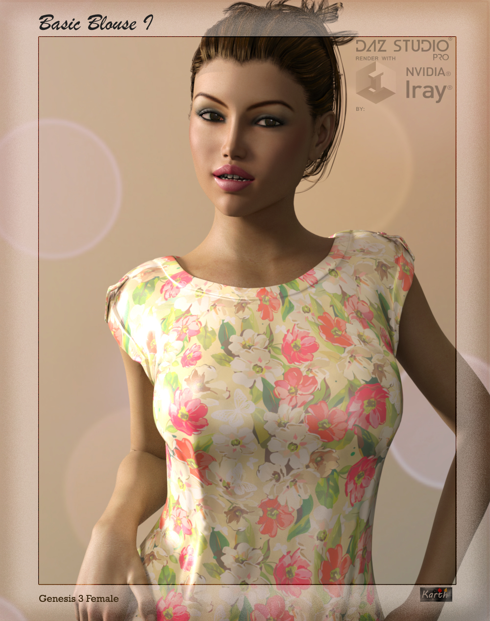 Basic Blouse I for Genesis 3 Female(s)