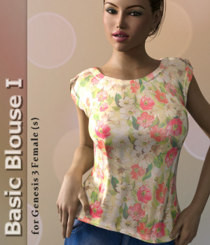 Basic Blouse I for Genesis 3 Female(s) 3D Figure Assets Karth