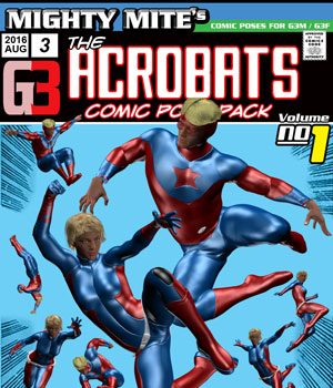 The Acrobats v01 : By MightyMite for G3M/G3F 3D Figure Essentials MightyMite