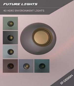 Future Lights HDRI Iray Environments 3D Lighting : Cameras SF-Design