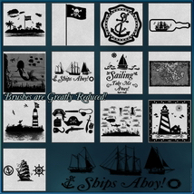 Oceanic Nautical Brushes and Png Files Pack image 3