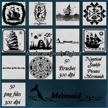 Oceanic Nautical Brushes and Png Files Pack image 4