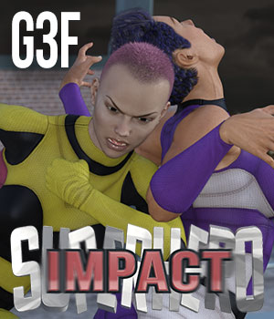 SuperHero Impact for G3F Volume 1 3D Figure Essentials GriffinFX