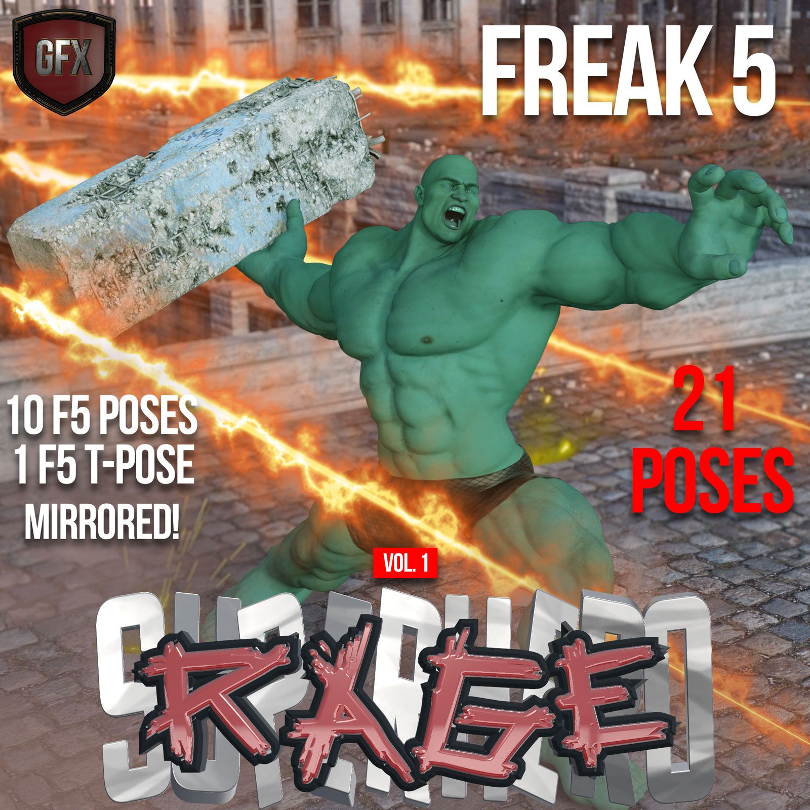 SuperHero Rage for Freak 5 Volume 1 by GriffinFX