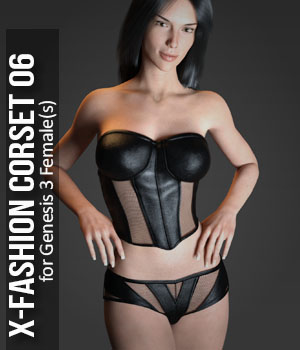Fashion Corset-6 for Genesis 3 Female(s) 3D Figure Essentials xtrart-3d