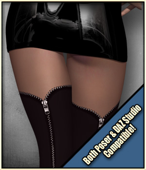 Sexy Skinz - Stockings 02 - Extended License 3D Figure Assets Extended Licenses vyktohria