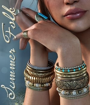 SummerFolk Bangles by fabiana