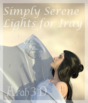 Arah3D Simply Serene Lights for DS Iray Lights OR Cameras Arah