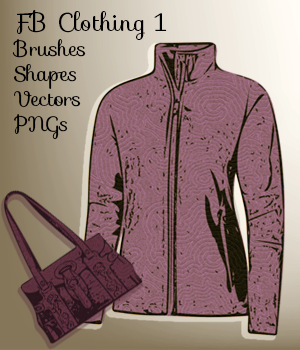 FB Clothing 1 Brushes, PNGs, Vectors, Custom Shapes - Merchant Resource 2D Graphics Merchant Resources fictionalbookshelf