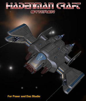 Sci-Fi Craft Hadenman Striker 3D Models Simon-3D
