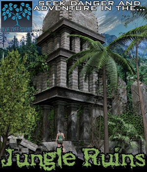 Jungle Ruins 3D Models BlueTreeStudio
