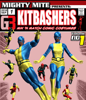 Kitbashers v01 : By MightyMite for G3M/G3F 3D Figure Essentials MightyMite