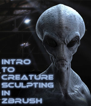 Introduction to Creature Sculpting in Zbrush - Project Grey Alien Tutorials : Learn 3D mrthirdeyeching