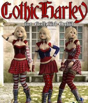 GothicHarley for Goth Girl Outfit G3F 3D Figure Essentials GKDantas