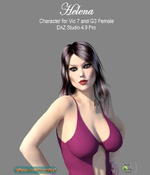 Helena 3D Figure Assets JeffersonAF