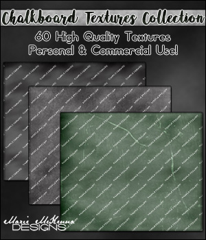 Chalkboard Textures Collection 2D Graphics Merchant Resources MarieMcKennaDesigns