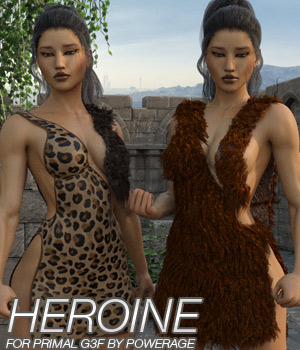 HEROINE - Primal Dress for G3 female(s) 3D Figure Assets Anagord