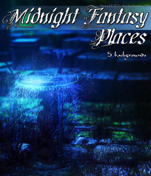 Midnight Fantasy Places - 2D backgrounds 2D Graphics bonbonka
