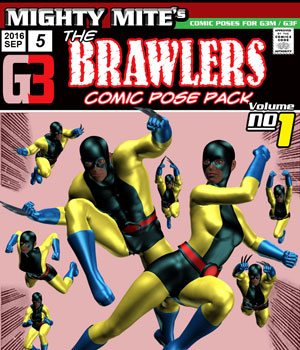 The Brawlers v01 : By MightyMite for G3M/G3F 3D Figure Assets MightyMite