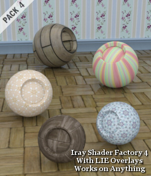 Iray Shader Factory 4 with LIE Overlays 3D Figure Assets 3D Models Lully