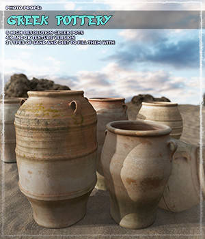 Photo Props: Greek Pottery - Extended License 3D Models Gaming Extended Licenses ShaaraMuse3D