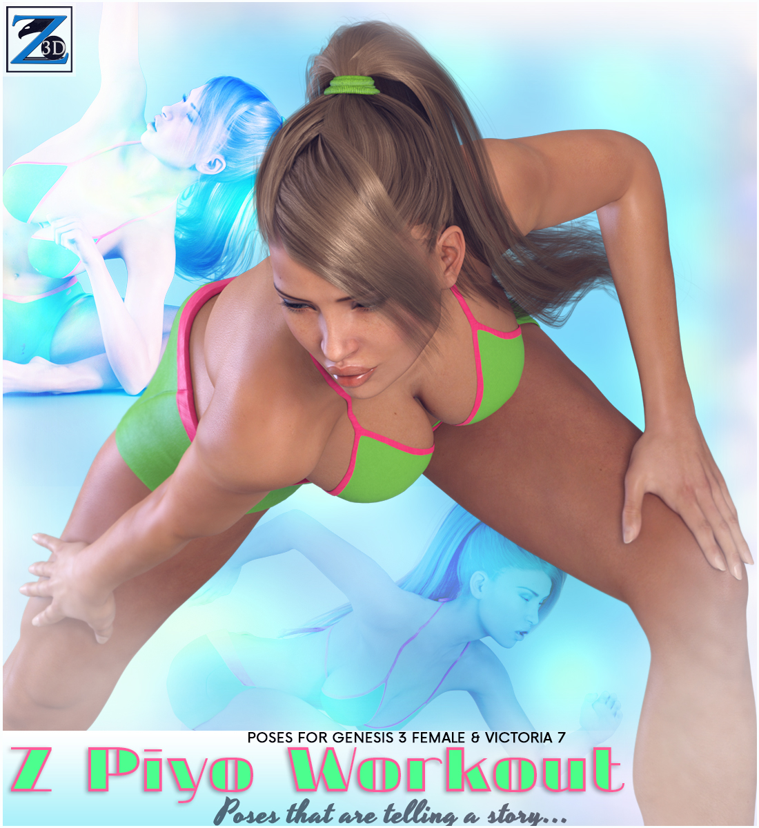 Z Piyo Workout - Poses for the Genesis 3 Females