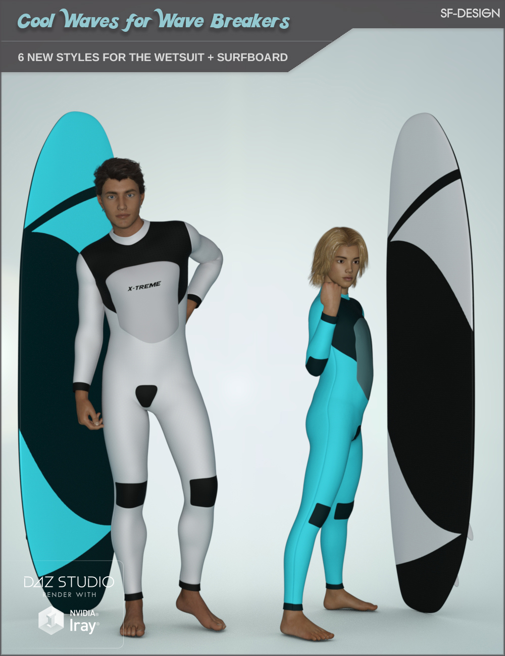 Cool Waves Add On for Wave Breakers for Genesis 3 Males