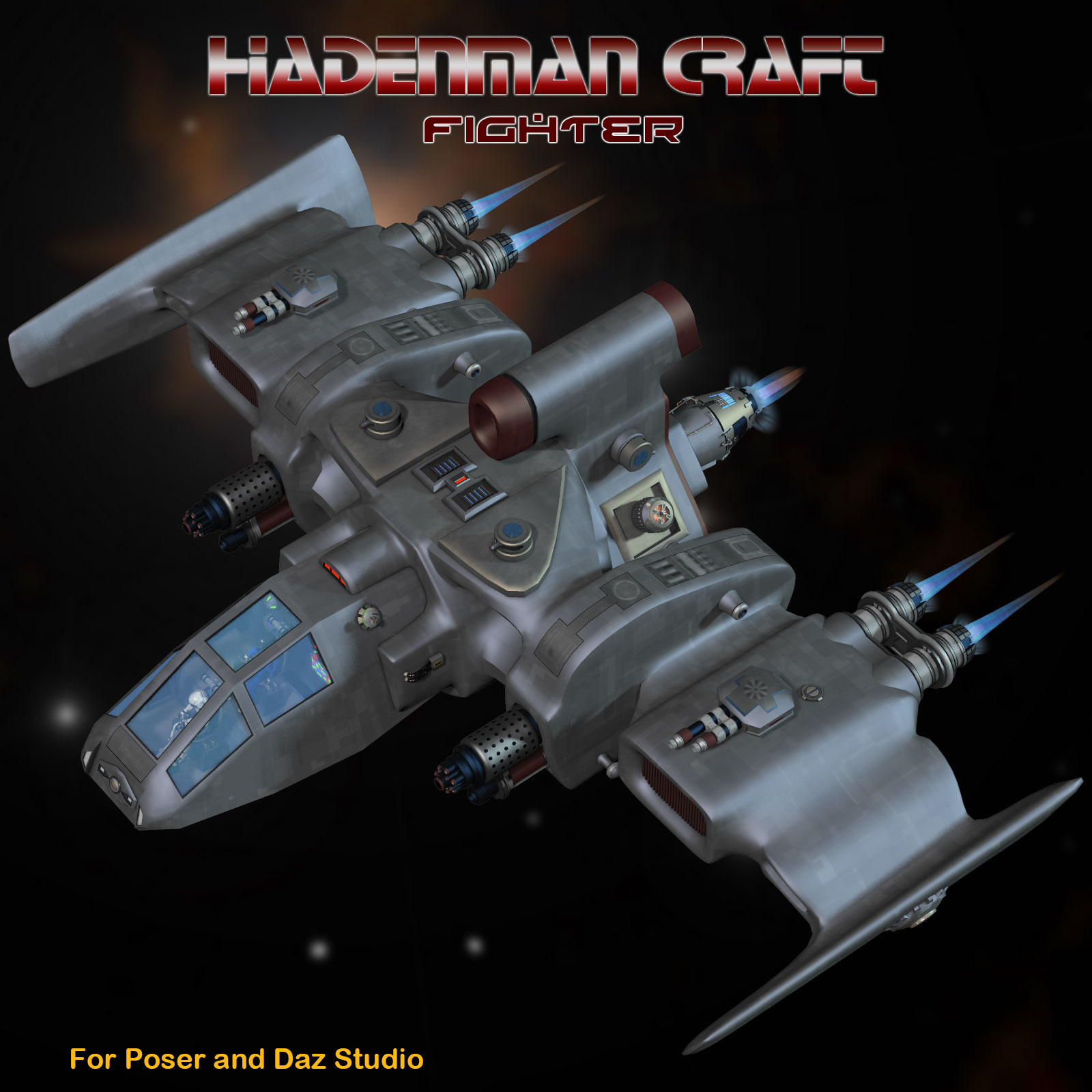 Sci-Fi Craft Hadenman Fighter by Simon-3D